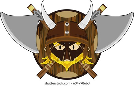 Cute Masked Norse Viking