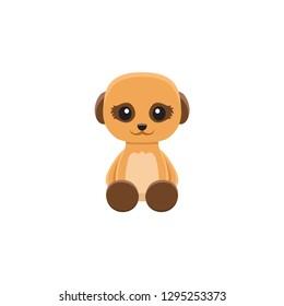 cute meerkat cartoon icon