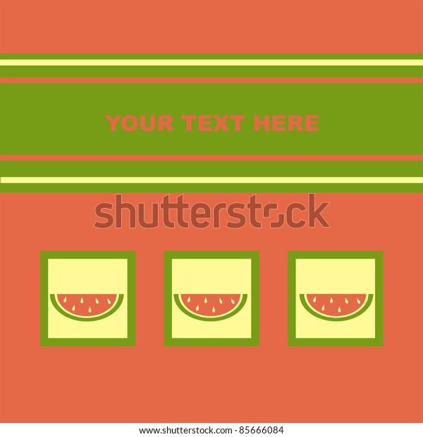 cute melons card