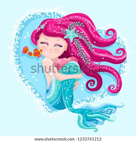 Cute mermaid hair with
