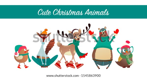 cute-merry-christmas-animal-set-600w-154