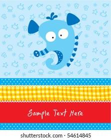 cute merry seahorse