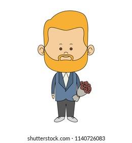 Cute midget man cartoon