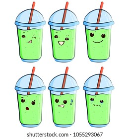 cute milkshake vector