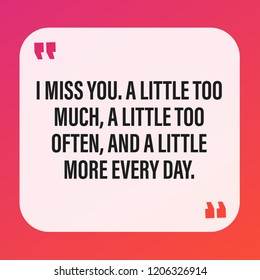 Cute Missing You Quotes Express Your Stock Vector Royalty Free