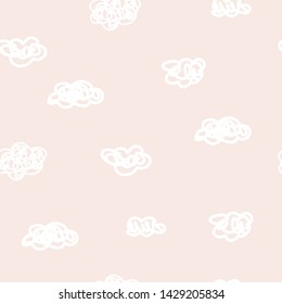 Cute modern abstract vintage pattern in scandinavian style. Pastel nursery wallpaper with simple shapes. Vector EPS and jpg image, clipart, editable isolated details.