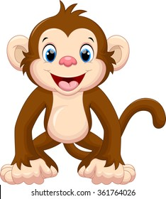monkey cartoon images  stock photos   vectors shutterstock funny happy birthday cliparts with babies funny happy birthday clip art free