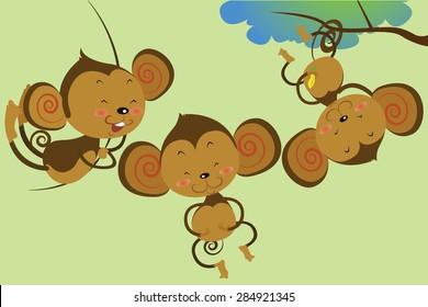 cute monkey cartoons