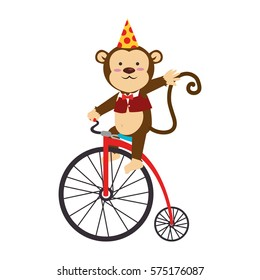 cute monkey circus animal
