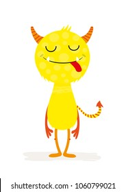 Cute monster character, design for children's  invitations or posters.