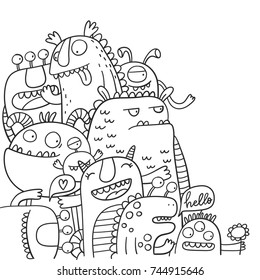 98 Top Colouring Pages Cute Monsters Download Free Images
