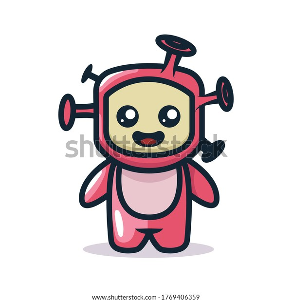 Cute monster mascot costume design
