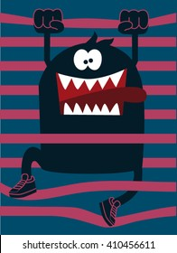 cute monster vector character design