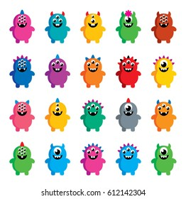 cute monster vector collection set