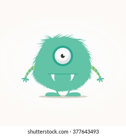 Cute monster vector illustration