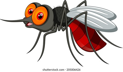 Cute mosquito cartoon