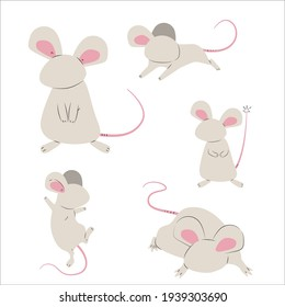 a cute mouse illustration design