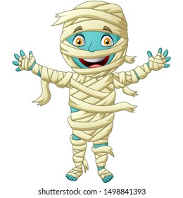 Cute mummy cartoon. Vector illustration