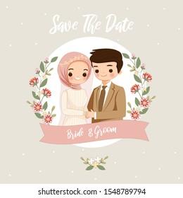 Cartoon Wedding Muslim Images Stock Photos Vectors Shutterstock