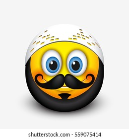 cute muslim emoticon emoji mustache 260nw 559075414