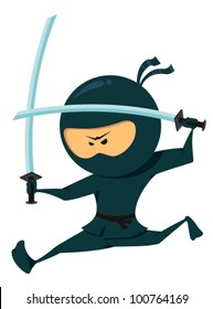 Cute Ninja Collection. Ninja Jumping With Katana