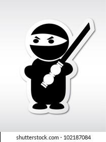 Cute Ninja With Katana