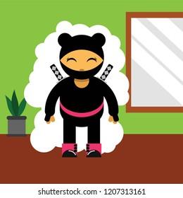 Cute Ninja Warior Character