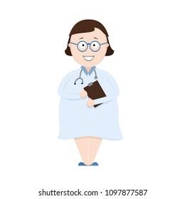 Cute Nurse or Doctor Cartoon Character.