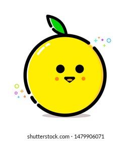 Cute Orange/Lemon Fruit Vector Clip Art for Pattern Element or Wallpaper Download
