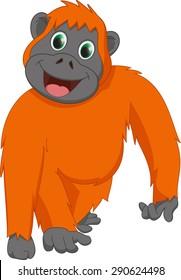 cute orangutan cartoon