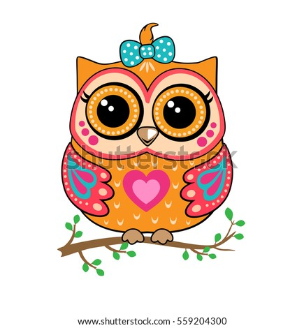 Image of: Animals Cute Owl Free Vector Cute Owl Stock Vector royalty Free 559204300 Shutterstock