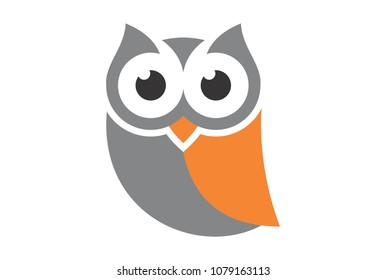cute owl logo vector design