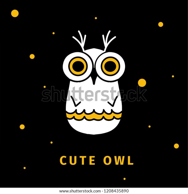 Cute Owl Night Owl Night Vector Stock Vector (Royalty Free) 1208435890