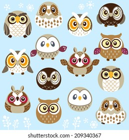 A lot of cute owls