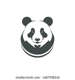 Cute panda vector. Can be used for kids or babies t shirt design. Fashion print graphic. Cartoon animal illustration
