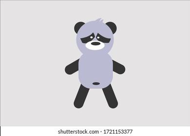 cute panda vector design illustration dance