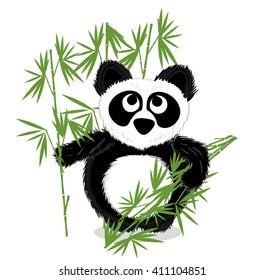 Cute  panda vector sample