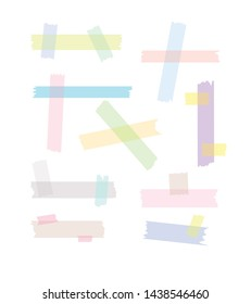 cute pastel adhesive tape. See through graphic illustration vector