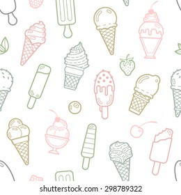 Ice Cream Hand Drawn Pattern Drawing Stock Vector Royalty Free