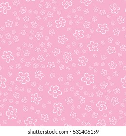 Cute pattern for kids, girls and boys. Creative vector background is made up of flowers. It can be used to create prints, packaging,invitations, simple designs. Funny wallpaper for textile and fabric.