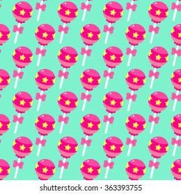 Cute pattern with lollipops.
