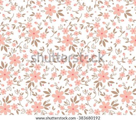 Cute Pattern Small Flower Small Pink Stock Vector Royalty Free