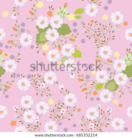 Cute Pattern Small Flowers Seamless Floral Stock Vector Royalty