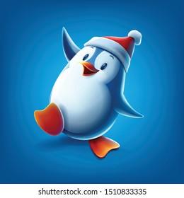 cute penguin cartoon vector illustration