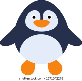 Cute penguin isolate on white background. Vector illustration in cartoon style