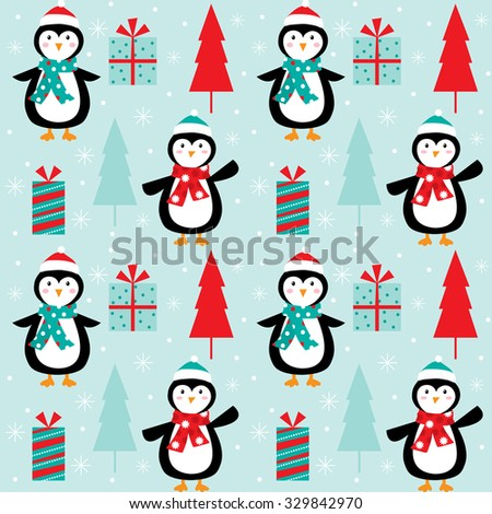 Cartoon christmas tree with gifts wallpaper