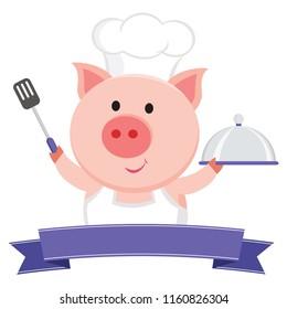 Cute pig chef