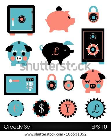 Cute piggy banks safes