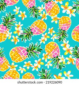 cute pineapples ~ seamless fashion print