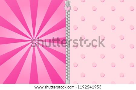 Cute Pink Background Bright Beams Lol Vector De Stock